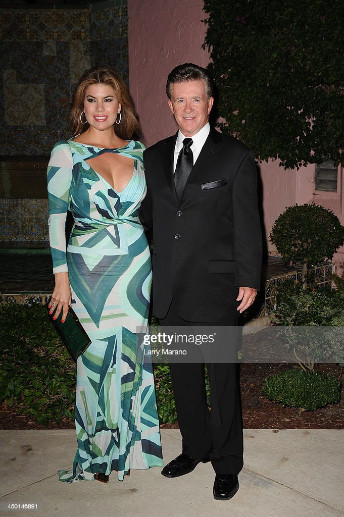 <a gi-track='captionPersonalityLinkClicked' href=/galleries/search?phrase=Alan+Thicke&family=editorial&specificpeople=240157 ng-click='$event.stopPropagation()'>Alan Thicke</a> and <a gi-track='captionPersonalityLinkClicked' href=/galleries/search?phrase=Tanya+Callau&family=editorial&specificpeople=235953 ng-click='$event.stopPropagation()'>Tanya Callau</a> arrive at the 2013 Chris Evert Pro-Celebrity Tennis Classic Gala at Boca Raton Resort on November 16, 2013 in Boca Raton, Florida.