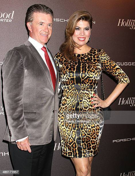Alan Thicke and Tanya Callau attend The Hollywood Reporter 35 Most Powerful People In Media Celebration at The Four Seasons Restaurant on April 16...