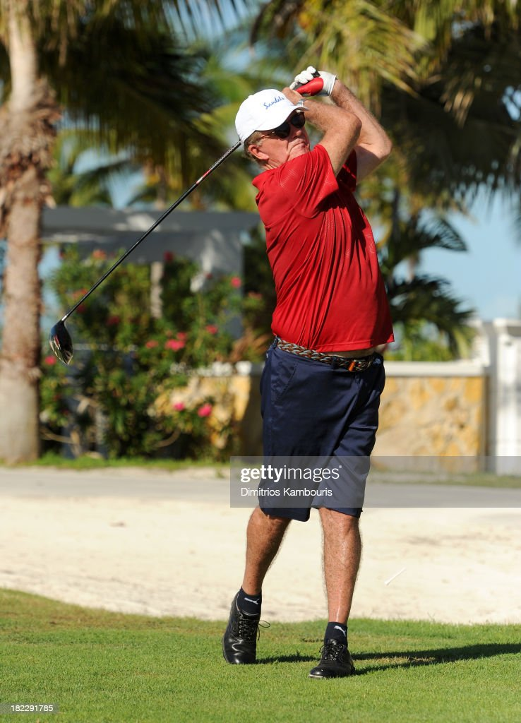 Alan Thicke attends the Golf Clinic with Greg Norman and Golf Tournament during Day Three of the Sandals Emerald Bay Celebrity Getaway And Golf...