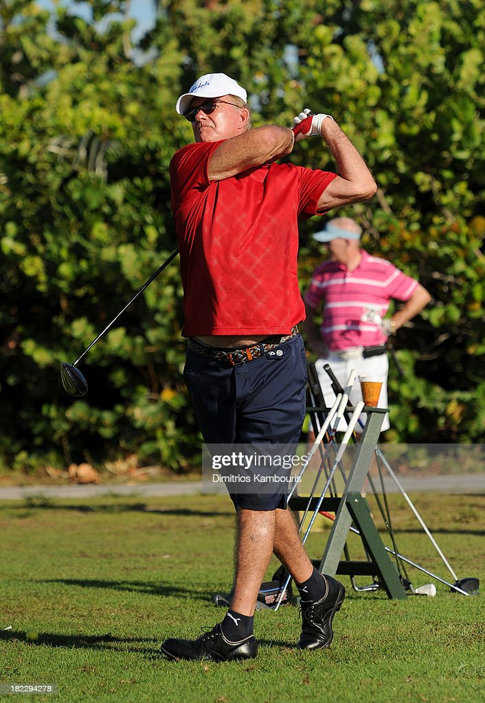 <a gi-track='captionPersonalityLinkClicked' href=/galleries/search?phrase=Alan+Thicke&family=editorial&specificpeople=240157 ng-click='$event.stopPropagation()'>Alan Thicke</a> attends the Golf Clinic with Greg Norman and Golf Tournament during Day Three of the Sandals Emerald Bay Celebrity Getaway And Golf Weekend on September 29, 2013 at Sandals Emerald Bay in Great Exuma, Bahamas.
