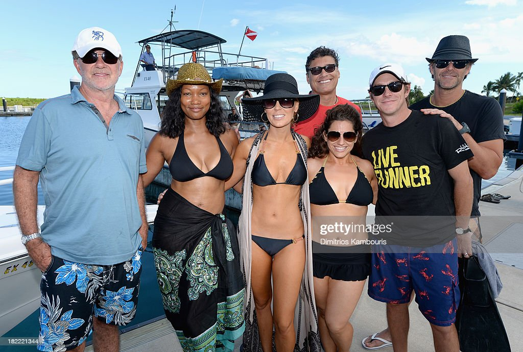 Alan Thicke, Garcelle Beauvais, Gretchen Rossi, Steven Bauer, Marissa Jaret Winokur, Kevin Rahm, and Slade Smiley attend the Island Routes Caribbean Adventures during Day Two of the Sandals Emerald Bay Celebrity Getaway And Golf Weekend on September 28, 2013 at Sandals Emerald Bay in Great Exuma, Bahamas.