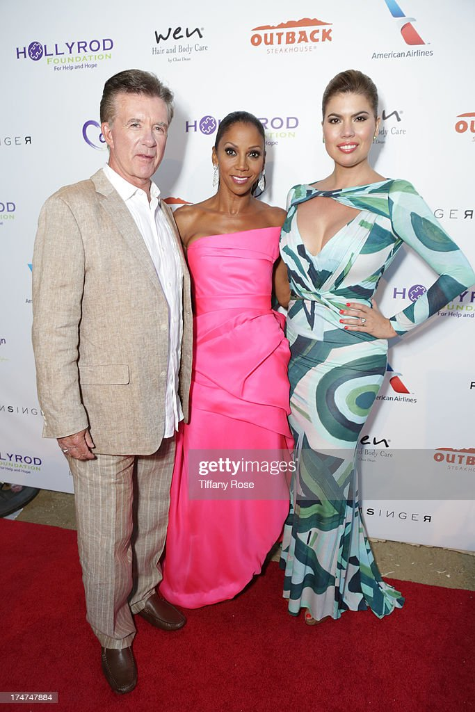 Alan Thicke, Holly Robinson Peete and Tanya Callau attend the 15th Annual DesignCare benefiting The HollyRod Foundation on July 27, 2013 in Malibu, California.