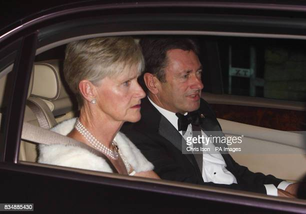 Alan Titchmarsh and his wife Alison arrive at Prince Charles's Highgrove home near Tetbury Gloucestershire where Prince Charles will be celebrating...