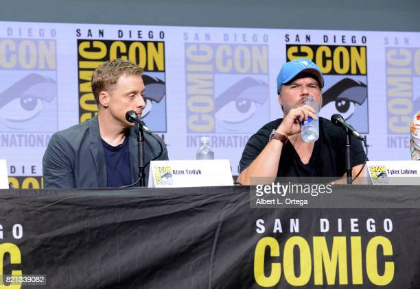Alan Tudyk and Tyler Labine at Dirk Gently's Holistic Detective Agency BBC America Official Panel during ComicCon International 2017 at San Diego...