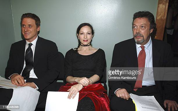 Alan Tudyk Bebe Neuwirth and Tim Curry during Conde Nast Traveler 18th Annual Readers' Choice Awards Green Room at The Metropolitan Museum of Art in...