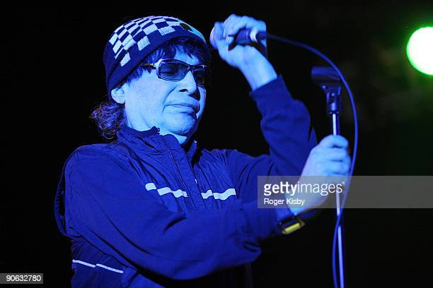 Alan Vega of Suicide performs at the ATP New York 2009 festival at the Kutsher's Country Club on September 11 2009 in Monticello New York