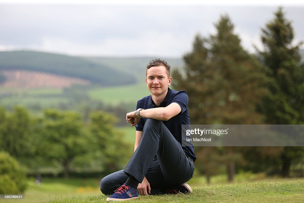 KINGDOM - JUNE 02 Alan Welsh of Cathkin Braes Golf Club posses after winning during the Powerade PGA Assistants' Championship - Scottish Regional Qualifier at Auchterarder Golf Club on June 02, 2014 in Auchterarder, Scotland.