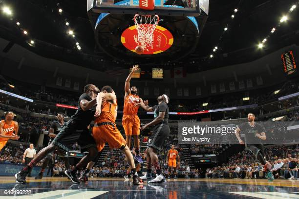Alan Williams of the Phoenix Suns shoots the ball against the Memphis Grizzlies during the game on February 28 2017 at FedExForum in Memphis...