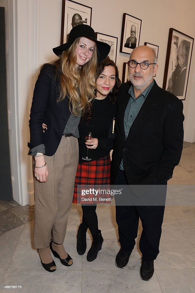 Alan Yentob and guests attend a private view of Bailey's Stardust a exhibition of images by David Bailey supported by Hugo Boss at the National...