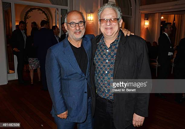 Alan Yentob and Jeremy Thomas attend the annual Charles Finch Filmmakers Dinner during the 67th Cannes Film Festival at Hotel du CapEdenRoc on May 16...