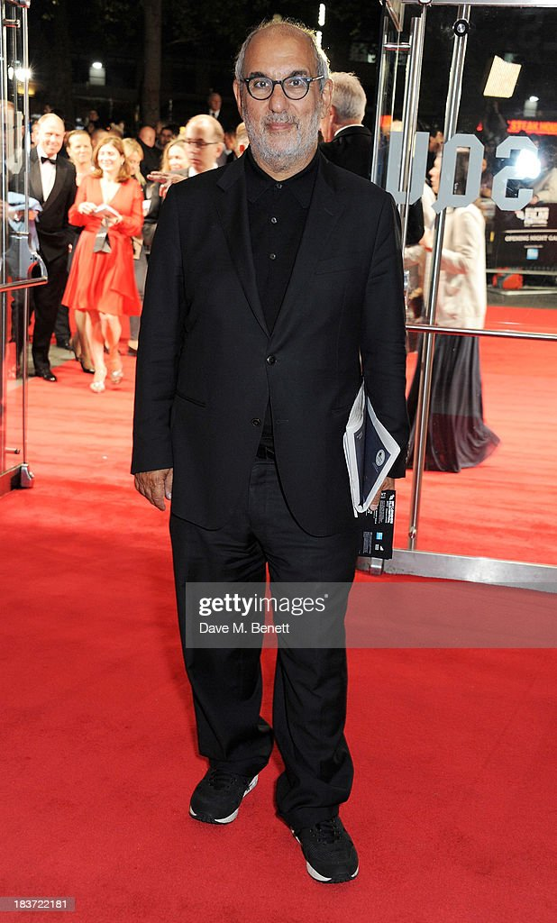 Alan Yentob attends the European Premiere of 'Captain Phillips' on the opening night of the 57th BFI London Film Festival at Odeon Leicester Square on October 9, 2013 in London, England.