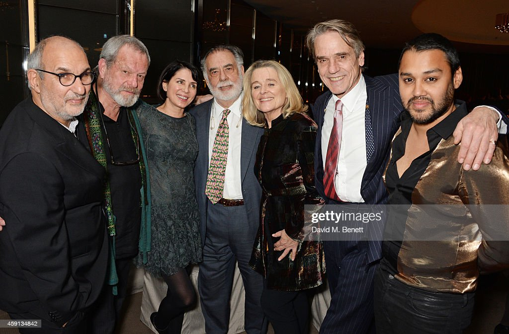 Alan Yentob Terry Gilliam Sadie Frost Francis Ford Coppola Sinead Cusack Jeremy Irons and Pablo Ganguli attend the Liberatum Cultural Honour for...