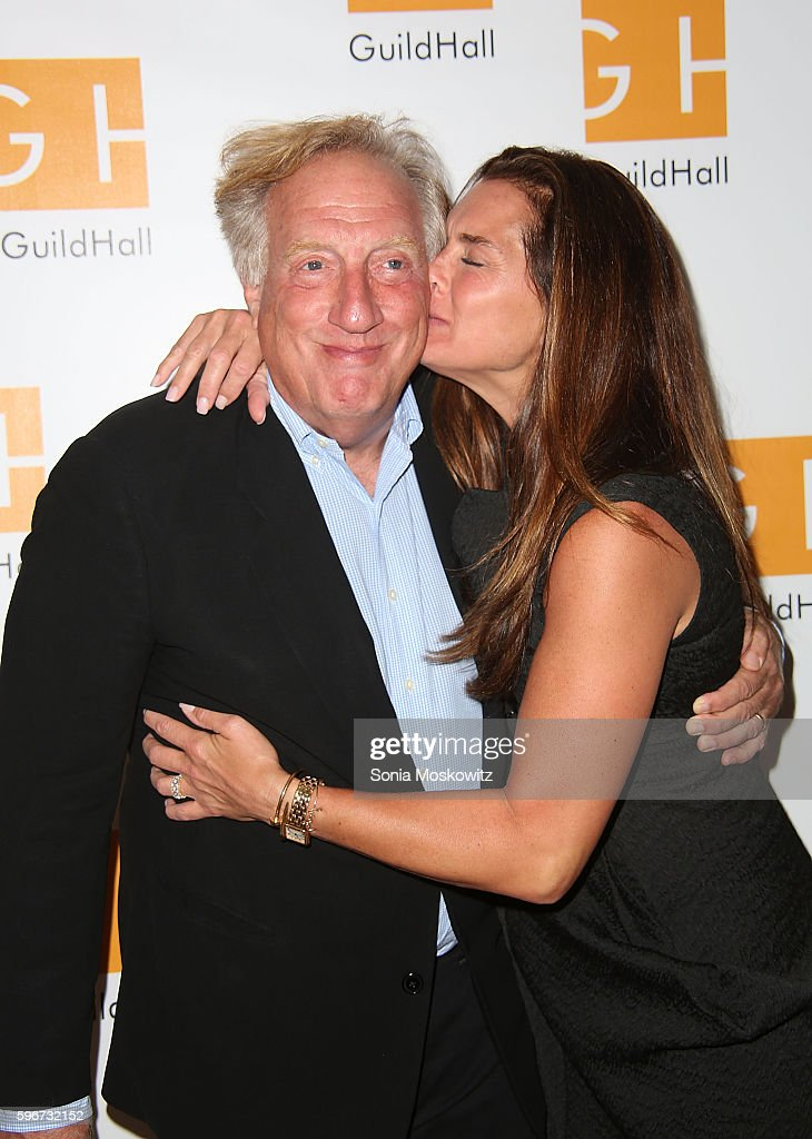 Alan Zweibel and Brooke Shields attend 'Celebrity Autobiography' at Guild Hall on August 26 2016 in East Hampton New York
