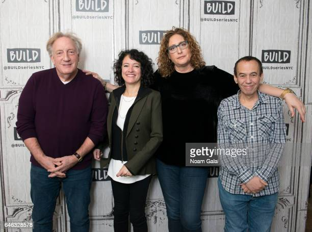 Alan Zweibel Ferne Pearlstein Judy Gold and Gilbert Gottfried visit Build Series to discuss 'The Last Laugh' at Build Studio on February 28 2017 in...