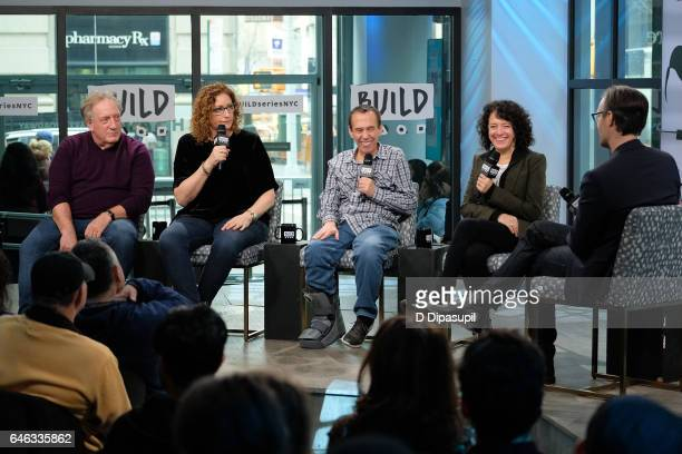Alan Zweibel Judy Gold Gilbert Gottfried and Ferne Pearlstein attend the Build Series to discuss 'The Last Laugh' at Build Studio on February 28 2017...