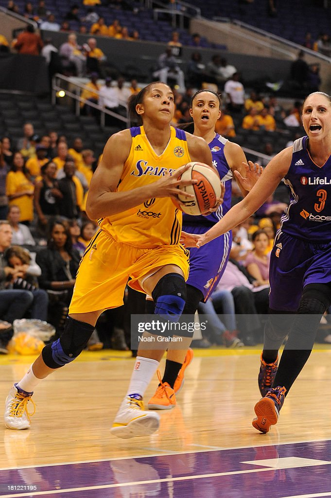 <a gi-track='captionPersonalityLinkClicked' href=/galleries/search?phrase=Alana+Beard&family=editorial&specificpeople=210691 ng-click='$event.stopPropagation()'>Alana Beard</a> #0 of the Los Angeles Sparks drives to the basket during a game against the Phoenix Mercury at STAPLES Center on September 19, 2013 in Los Angeles, California.