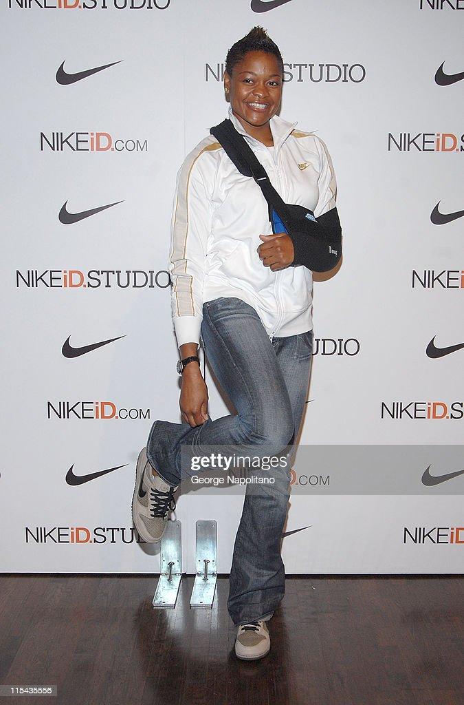 ALana Beard of the WNBA's Washington Mystics at Niketown New York as Nike celebrates the opening of The NIkeID Studio, October 20, 2007 in New York.