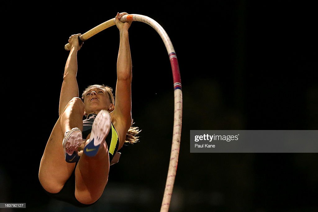 Alana Boyd competes in the womens open pole vault during the Perth Track Classic at the WA Athletics Stadium on March 16, 2013 in Perth, Australia.