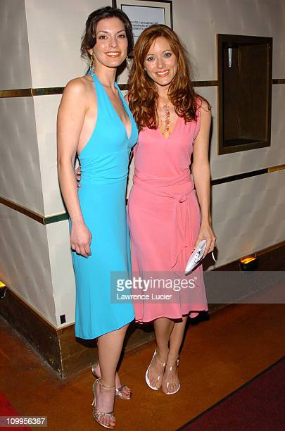 Alana De La Garza and Elizabeth Bogush during Alliance Celebrates Network Television Upfront Week at Madison Square Garden in New York City New York...