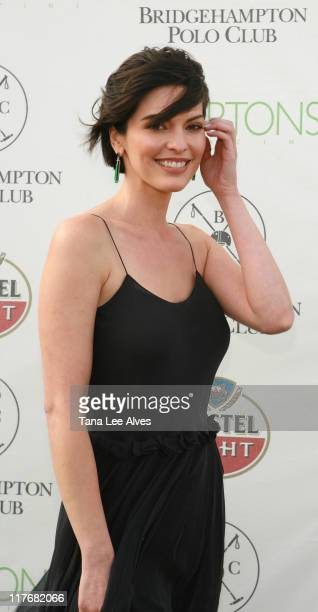 Alana De La Garza during Hamptons Magazine Hosts the MercedesBenz Polo Challenge August 26 2006 at Bridgehampton Polo Grounds in Bridgehampton New...
