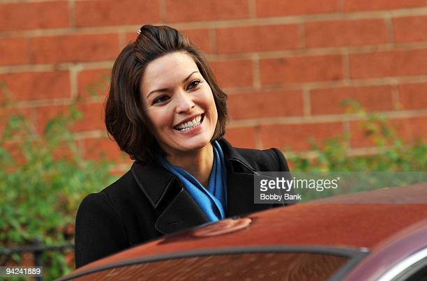 Alana de la Garza on location for 'Law Order' on the streets of Manhattan on December 9 2009 in New York City