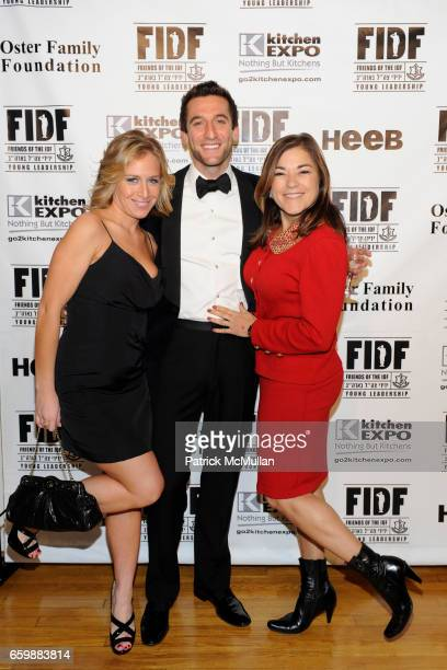 Alana Frankfort Jeremy Abelson and Loretta Sanchez attend FIDF CASINO NIGHT 2009 at The Metropolitan Pavilion on December 5 2009 in New York City