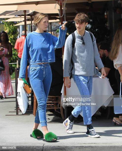 Alana Hadid and Anwar Hadid are seen on April 7 2017 in Los Angeles CA