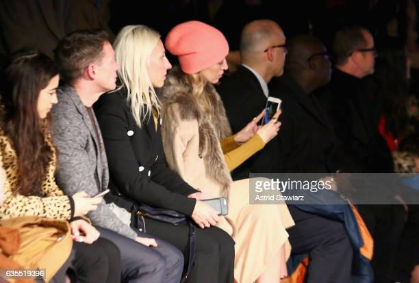 Alana Hadid and guests attend the Anna Sui fashion show during New York Fashion Week The Shows at Gallery 1 Skylight Clarkson Sq on February 15 2017...