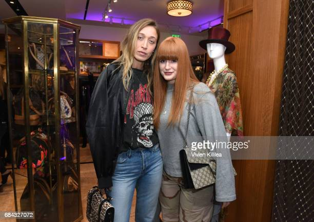 Alana Hadid and Jill Jacobs attend the Pirates of the Caribbean special event at What Goes Around Comes Around on May 17 2017 in Beverly Hills...