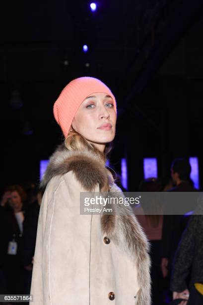 Alana Hadid attends Anna Sui Fall/Winter 2017 Show at Skylight Clarkson Sq on February 15 2017 in New York City