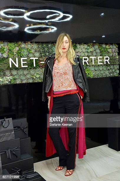 Alana Hadid attends NETAPORTER New Designers Cocktail on December 1 2016 in Los Angeles California