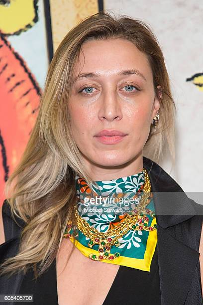 Alana Hadid attends the Alice Olivia by Stacey Bendet presentation during September 2016 New York Fashion Week The Shows at The Gallery Skylight at...