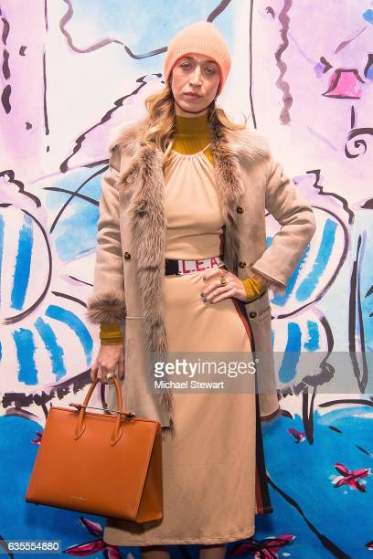 Alana Hadid attends the Anna Sui fashion show during February 2017 New York Fashion Week at Gallery 1 Skylight Clarkson Sq on February 15 2017 in New...