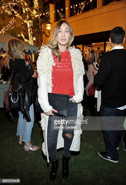 Alana Hadid attends the opening of Laduree at The Grove in Los Angeles hosted by Rick Caruso and Jessica Alba in Partnership with Baby2Baby at The...