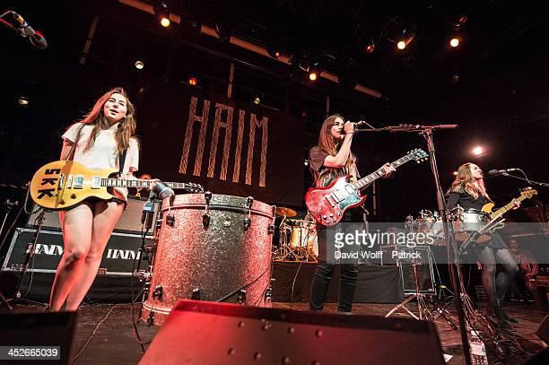 Alana Haim Danielle Haim and Este Haim from Haim perform at La Gaite Lyrique on November 30 2013 in Paris France