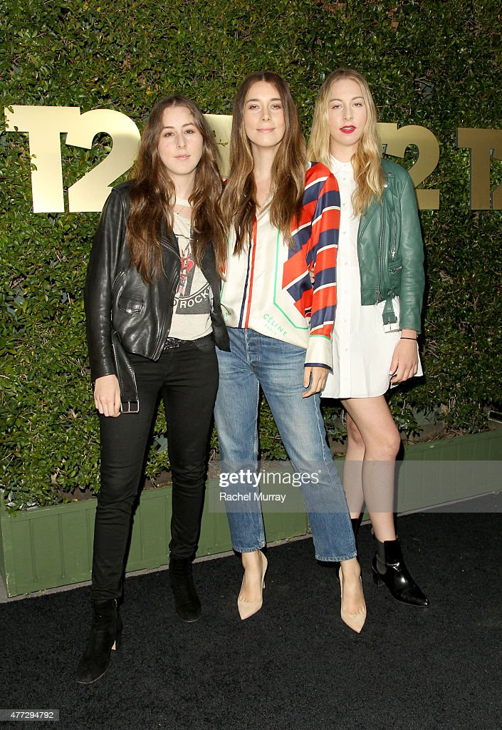 Alana Haim Danielle Haim and Este Haim of HAIM attend the E3 Kickoff party hosted by TakeTwo Interactive CEO Strauss Zelnick on June 15 2015 in West...