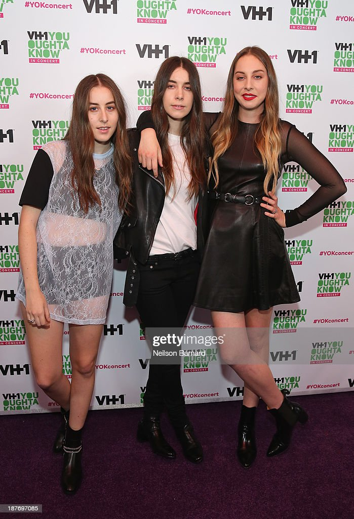 <a gi-track='captionPersonalityLinkClicked' href=/galleries/search?phrase=Alana+Haim&family=editorial&specificpeople=9431818 ng-click='$event.stopPropagation()'>Alana Haim</a>, <a gi-track='captionPersonalityLinkClicked' href=/galleries/search?phrase=Danielle+Haim&family=editorial&specificpeople=2499485 ng-click='$event.stopPropagation()'>Danielle Haim</a> and <a gi-track='captionPersonalityLinkClicked' href=/galleries/search?phrase=Este+Haim&family=editorial&specificpeople=2499486 ng-click='$event.stopPropagation()'>Este Haim</a> of HAIM attend VH1 'You Oughta Know In Concert' 2013 on November 11, 2013 at Roseland Ballroom in New York City.