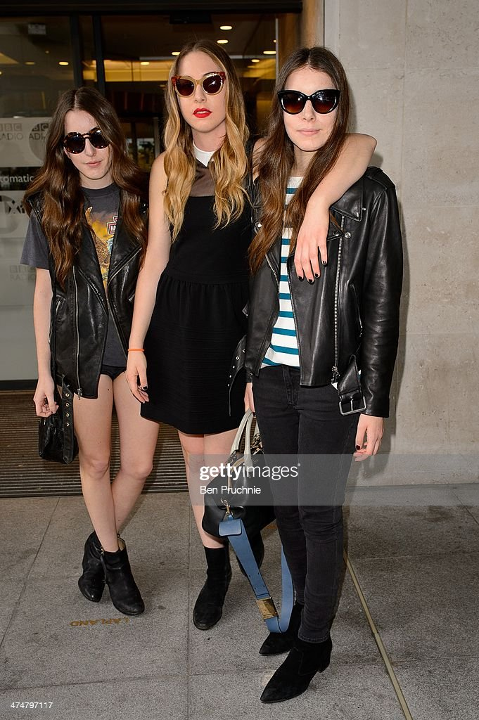 Haim Sightings In London - February 25, 2014