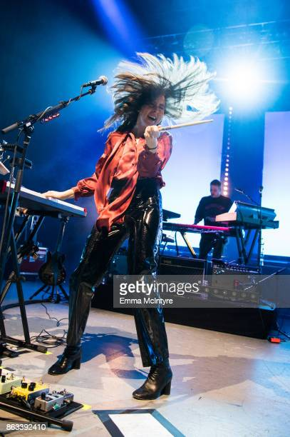 Alana Haim of HAIM performs onstage at The Greek Theatre on October 19 2017 in Los Angeles California