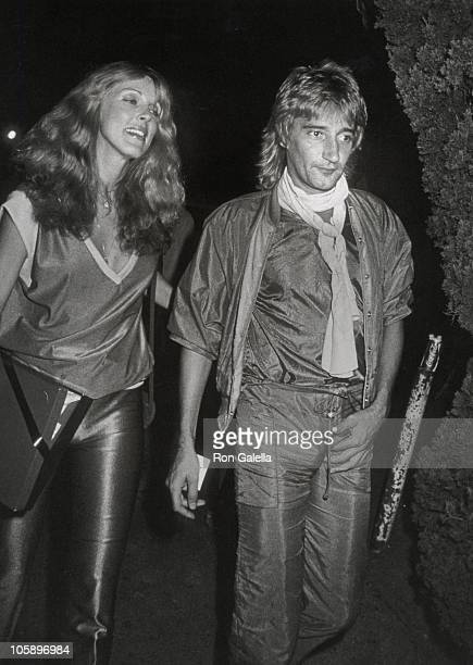 Alana Hamilton and Rod Stewart during Jacqueline Bissett's Birthday Party September 13 1979 at Flippers Roller Disco in Sherman Oaks California...
