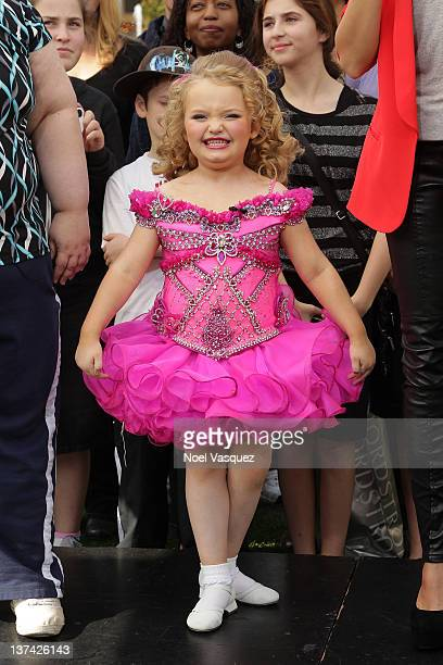 Alana 'Honey Boo Boo Child' Holler visits 'Extra' at The Grove on January 20 2012 in Los Angeles California