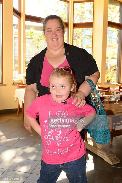 Alana 'Honey Boo Boo' Thompson and her mother June Shannon visit 'Extra' at The Grove on October 15 2012 in Los Angeles California