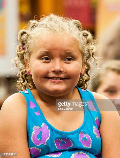 Alana 'Honey Boo Boo' Thompson attends the 'How to Honey Boo Boo The Complete Guide' Book Event at the Barnes and Nobles on July 11 2013 in Mclean...