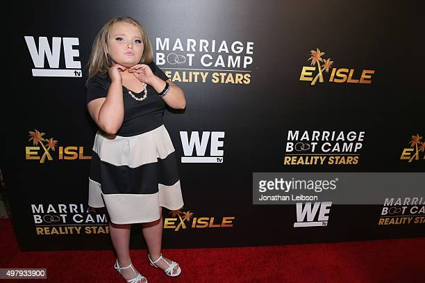 Alana 'Honey Boo Boo' Thompson attends the WE tv premiere of 'Marriage Boot Camp' Reality Stars and 'Exisled' on November 19 2015 in Los Angeles...
