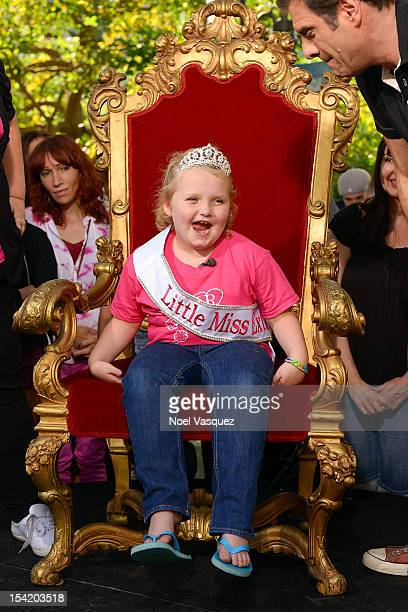 Alana 'Honey Boo Boo' Thompson visits 'Extra' at The Grove on October 15 2012 in Los Angeles California