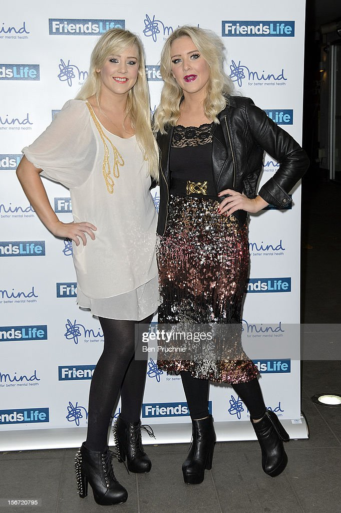 Alana Macfarlane and Lisa Macfarlane of 'The Mac Twins' attend the Mind Mental Health Media Awards at BFI Southbank on November 19, 2012 in London, England.