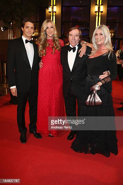 Alana Netzer with partner and Guenter Netzer with wife Elvira Netzer attend the 21st UNESCO Charity Gala 2012 on October 27 2012 in Dusseldorf Germany