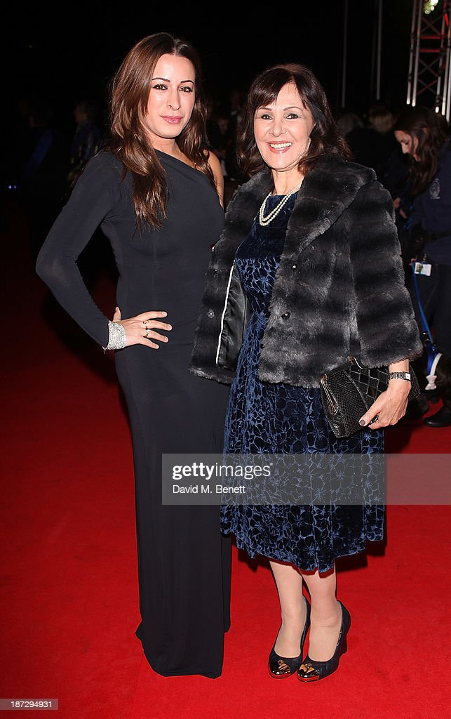 Alana Phillips and Arlene Phillips attend the annual Collars and Coats gala ball in aid of Battersea Dogs & Cats home at Battersea Evolution on November 7, 2013 in London, England.