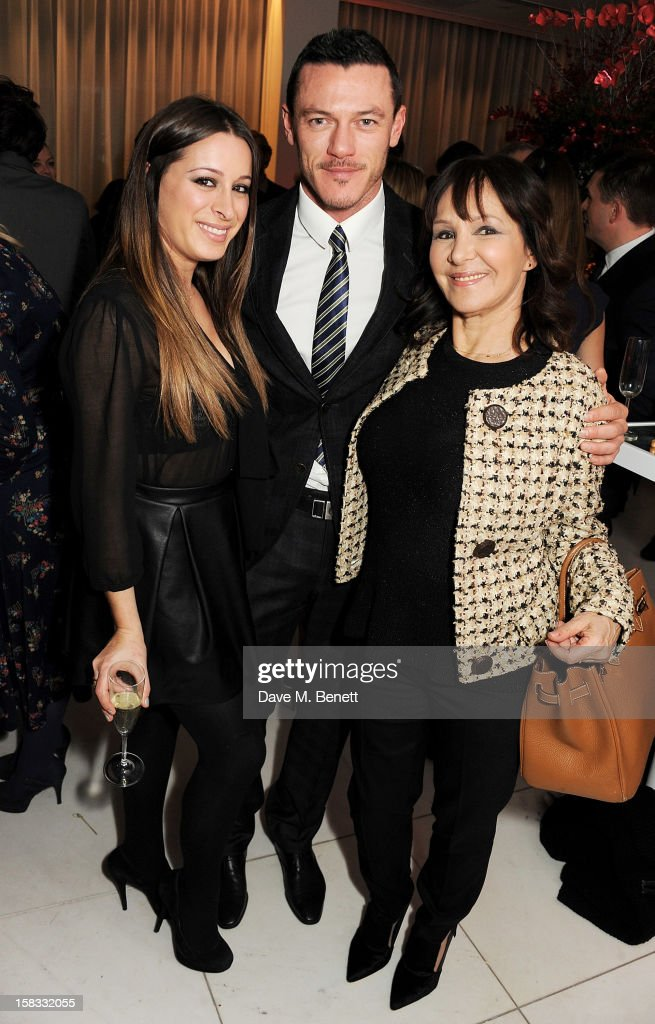 Alana Phillips, Luke Evans and <a gi-track='captionPersonalityLinkClicked' href=/galleries/search?phrase=Arlene+Phillips&family=editorial&specificpeople=4116069 ng-click='$event.stopPropagation()'>Arlene Phillips</a> attend the English National Ballet Christmas Party at St Martins Lane Hotel on December 13, 2012 in London, England.