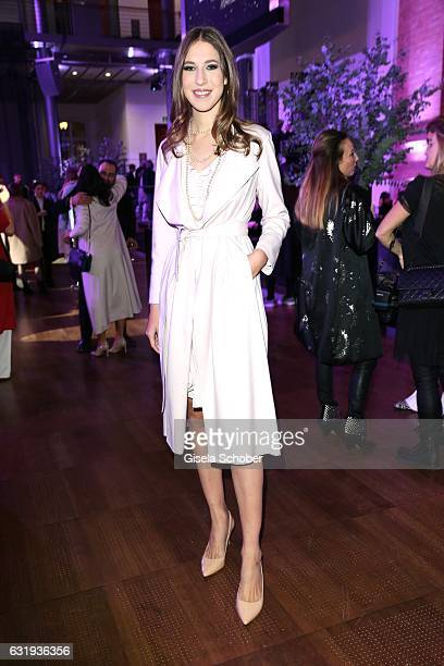 Alana Siegel daughter of Ralf Siegel and Dagmar Koegel during the Marc Cain fashion show fall/winter 2017 'Ballet magnifique' at 'Telekom...
